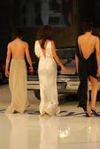 Katherine Moennig with Erin Daniels and Alexandra Hedison on the runway at General Motors Annual Ten Event. Vine Blvd, Hollywood, CA. 02-28-06 — Stock Photo