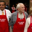 Stock Photo: Antonio Villaraigoswith Kirk Douglas and Anne Douglas