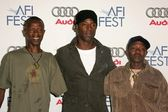 Abdul Rahim Kamara with Isaiah Washington and Reuben M. Koroma at the After Party following the AFI FEST 2005 premiere of The Refugee All Stars. Audi Pavilion, Hollywood, CA. 11-09-05 — Stock Photo