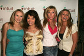 Alana Curry, Devin DeVasquez, Melissa Mojo Hunter and Tamie Sheffield at the Intuit Media Group Launch Party, The Little Door, Los Angeles, CA 02-23-06 — Stock Photo
