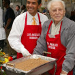 Stock Photo: Antonio Villaraigosand Kirk Douglas