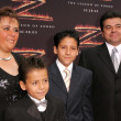 Stock Photo: AdriAlonso and family at premiere of Legend of Zorro. Orpheum Theater, Los Angeles, CA. 10-16-05
