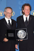 Steven Spielberg and Geoffrey Rush — Stock Photo