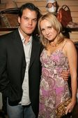Alana Curry and Burke Bryant at the Grand Opening of the Bling Jewelry Co., featuring jewelry designer Fileena Bahris, Hollywood, CA 12-02-05 — Stock Photo