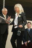 Wayne rogers hollywoodzkiej alei sławy ceremonii — Zdjęcie stockowe