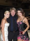 Katie Lohmann with Kato Kaelin and Hillary Millard at the Lingerie Bowl Ball, Roosevelt Hotel, Feb 03, 2005 — Stock Photo