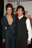Kate Walsh and T.R. Knight at the premiere of The Ringer. The Directors Guild, Los Angeles, CA. 12-14-05 — Stock Photo