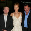 Uwe Boll with Kristanna Loken and Michael Madsen — Stock Photo