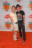 Katie Cassidy and Jesse Mccartney at Nickelodeons 19th Annual Kids Choice Awards. Pauley Pavilion, Westwood, CA. 04-01-06 — Stock Photo