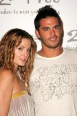 Alexis Thorpe and David Lago arriving at 2 Be Frees Spring 2006 Collection. Paramount Studios, Hollywood, CA. 10-15-05 — Stock Photo