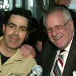 Adam Carolla and Oscar Goodman at a live taping of the Adam Carolla Radio Show. Ghost Bar, Palms Hotel, Las Vegas, NV. 03-09-06 — Stock Photo