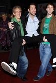 Andy and Zachary Levi and Joel Moore — Stock Photo
