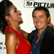 Adrianne Curry and Christopher Knight at the World Premiere of the VH1 series My Fair Brady. Cinespace, Hollywood, CA. 09-11-05 — Stock Photo