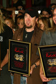 Adrian Smith at the ceremony honoring Iron Maiden with induction in to the Hollywood Rockwalk. Rockwalk, Hollywood,CA. 08-19-05 — Stock Photo