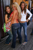 Kerri Kasem, Galen Brown and Tina Jordan at the Two Chicks and a Bunny at the Saddle Ranch, The Saddle Ranch Chop House, West Hollywood, CA 07-17-05 — Stock Photo