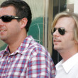 Adam Sandler and David Spade at the ceremony posthumously honoring Chris Farley with a star on the Hollywood Walk of Fame. Hollywood Boulevard, Hollywood, CA. 08-26-05 — Stock Photo