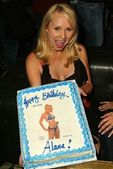 Alana Curry and her Birthday Cake at Alana Currys Birthday Bash, Spider Club, Hollywood, CA 05-04-05 — Stock Photo
