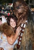 Fileena Bahris and Chewbacca — Stock Photo