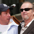 Adam Sandler and Jack Nicholson at Sandlers Hand and Foot Print Ceremoney at the Chinese Theater, Hollywood, CA 05-17-05 — Stock Photo