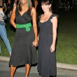 Aisha Tyler and Jennifer Love Hewitt  At the CBS Ghost Whisperer and Threshold premiere screening, Hollywood Forever Cemetery, Hollywood, CA 09-09-05 — Stock Photo