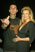Travis Barker and Shanna Moakler — 图库照片