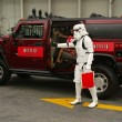 Stock Photo: Bai Ling and Eetflix Deliver DVD Relief to Star Wars Fans