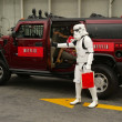 Bai Ling and Eetflix Deliver DVD Relief to Star Wars Fans — Stock Photo #16681601