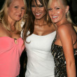 Alana Curry with Traci Bingham and Katie Lohmann at the Jelessy Collection Summer Party. Cabana Club, Hollywood, CA. 08-17-05 — Stock Photo #16683093