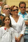 荣获一个星名望好莱坞步行出来的埃米利奥埃斯特凡 — 图库照片