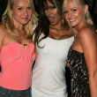 Alana Curry with Traci Bingham and Katie Lohmann at the Jelessy Collection Summer Party. Cabana Club, Hollywood, CA. 08-17-05 — Stock Photo #16696337