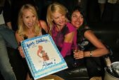 Alana Curry, Barbara Moore and Devin DeVasquez at Alana Currys Birthday Bash, Spider Club, Hollywood, CA 05-04-05 — Stock Photo