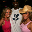 Ivana Bozilovic, Kareem Rush and Bonnie-Jill Laflin — Stock Photo