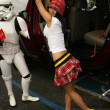 Bai Ling and Eetflix Deliver DVD Relief to Star Wars Fans — Stock Photo