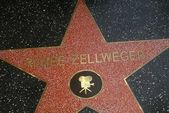 Renee Zellweger's star — Stock Photo