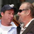 Adam Sandler and Jack Nicholson at Sandlers Hand and Foot Print Ceremoney at the Chinese Theater, Hollywood, CA 05-17-05 — Stock Photo #16717237
