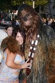 Fileena Bahris and Chewbacca — Stock Photo