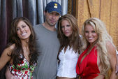 Kerri Kasem, Galen Brown, Jonny Miller and Tina Jordan at the Two Chicks and a Bunny at the Saddle Ranch, The Saddle Ranch Chop House, West Hollywood, CA 07-17-05 — Stock Photo
