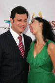 Sarah Silverman and Jimmy Kimmel — Stock Photo