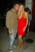 Kostas Sommer and Cindy Margolis — Stock Photo