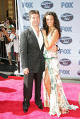 Simon Cowell and Terri Seymour — Stock Photo