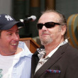 Adam Sandler and Jack Nicholson at Sandlers Hand and Foot Print Ceremoney at the Chinese Theater, Hollywood, CA 05-17-05 — Stock Photo #16720335