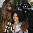 Постер, плакат: Victoria Rowell wears Star Wars Charity Necklace