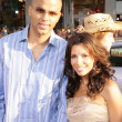 Tony Parker and Eva Longoria — Stockfoto