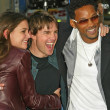 Katie Holmes, Tom Cruise and Will Smith at the War of the Worlds Los Angeles Premiere, Chinese Theater, Hollywood, CA 06-27-05 — Stock Photo #16722985