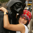 Bai Ling and Eetflix Deliver DVD Relief to Star Wars Fans - 图库照片