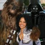 Постер, плакат: Chewbacca Darth Vader and Victoria Rowell