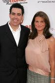 Adam carolla i żona lynette w komedii centrum pieczeń z pamela anderson, sony studios, culver city, ca 08-07-05 — Zdjęcie stockowe