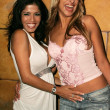 Stock Photo: Alexis Amore and Evette at BrigittBulgaris Birthday Party. Basque, Hollywood, CA. 09-16-05