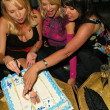 Alana Curry, Barbara Moore and Devin DeVasquez at Alana Currys Birthday Bash, Spider Club, Hollywood, CA 05-04-05 — Stock Photo #16736371