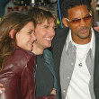 Katie Holmes, Tom Cruise and Will Smith at the War of the Worlds Los Angeles Premiere, Chinese Theater, Hollywood, CA 06-27-05 — Stock Photo